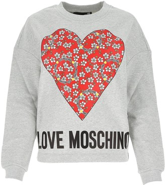 Love Moschino Heart Print Sweatshirt