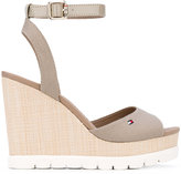 Tommy Hilfiger wedged sandals - women - Tactel/rubber - 39