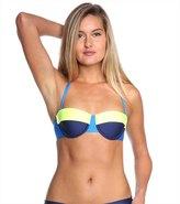 Splendid Sunblock Solids Underwire Bra Bikini Top 8116966