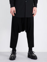 Comme des Garcons Dropped-crotch wool trousers