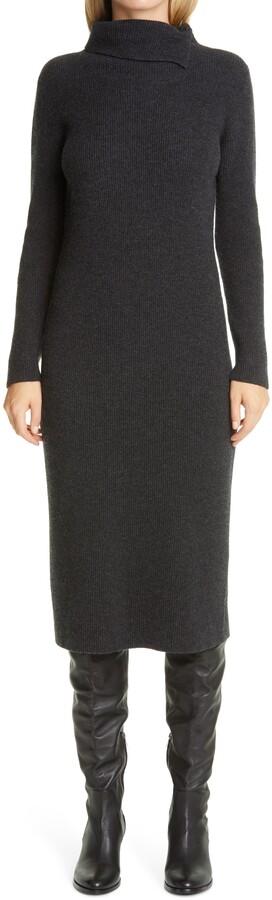 Long Sleeve Wool, Silk & Cashmere Sweater Dress
