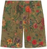 Gucci Flora Snake print cotton shorts