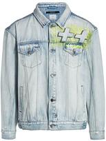 Ksubi Stoked Neon Denim Trucker Jacket