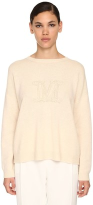 Max Mara Intarsia Logo Cashmere Sweater