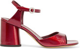 Marc Jacobs Amelia glossed-leather sandals