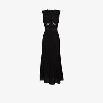 Simone Rocha Lace Detail Silk Slip Dress