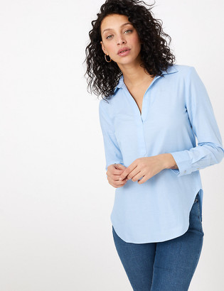Marks and Spencer Pure Cotton Printed Long Sleeve Shirt