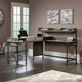 Three Posts Oakside L-Shape Computer Desk with Hutch