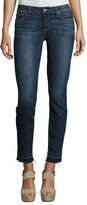 Paige Verdugo Ankle Skinny Jeans with Undone Hem, Sandy