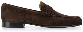 Canali Low Heel Stitch Detail Loafers