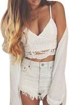 Imixshop Women Crochet Cami Tank Camisole Lace Floral Vest Bralette Blouse Bra Crop Top