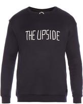 The Upside Flocked-logo jersey sweatshirt