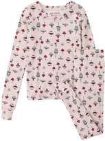 Joe Fresh Kid Girls' Mushroom Print Sleep Set, Light Pink (Size XL)