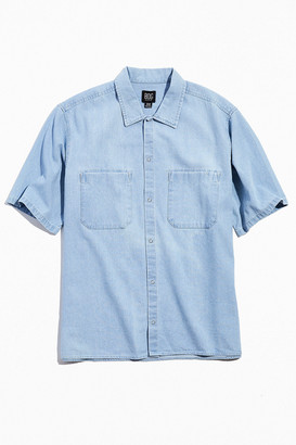 BDG Denim Short Sleeve Snap Button-Down Shirt