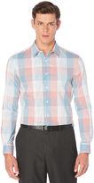Perry Ellis Ombre Plaid Pattern Shirt