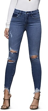 Good American Ripped Skinny Jeans