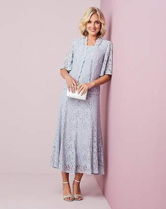 Nightingales Grey Lace Dress and Jacket