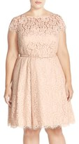 Eliza J Lace Fit & Flare Dress (Plus Size)