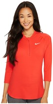 Nike Court Dry 3/4 Sleeve Half-Zip Tennis Top Women's Clothing