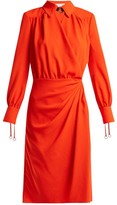 Altuzarra Kat Wrap-front Dress - Womens - Orange