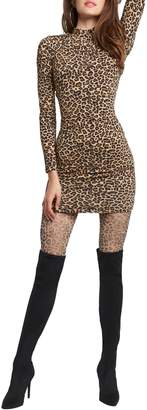 Bardot Leopard-Print Bodycon Dress