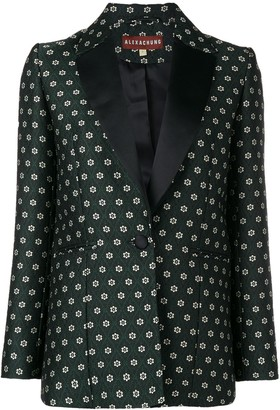 ALEXACHUNG Floral Tailored Blazer
