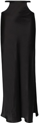 Michael Lo Sordo Cutout Side Slit Maxi Skirt