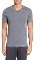 Daniel Buchler Men's Burnout Cotton Blend V-Neck T-Shirt