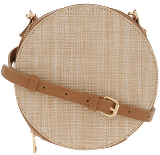 Miss Shop Woven Round Cross Body Bag