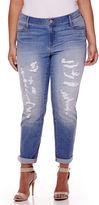 BELLE + SKY Destructed Boyfriend Jeans - Plus