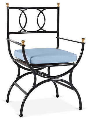 One Kings Lane Frances Bistro Chair - Ocean Blue