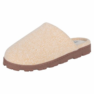 Jessica Simpson Womens Plush Indoor/Outdoor Slide On Clog Slipper with Memory Foam (Yellow Size Extra Large)