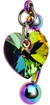 Body Candy Top Mount Heart Belly Ring Created with Swarovski Crystals
