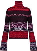 McQ Intarsia-Knit Wool Turtleneck Sweater