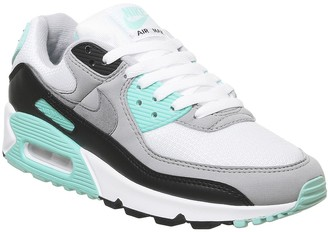 Nike 90 Trainers White Grey Hyper Turquoise
