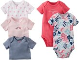 Carter's Baby Girls' 5 Pack Bodysuits (Baby) - Coral