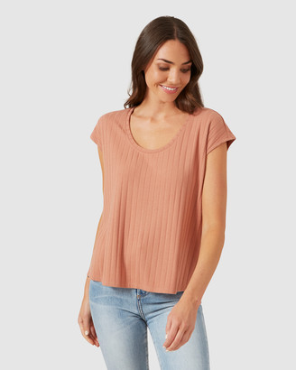 French Connection Ribbed Sleeveless Tee