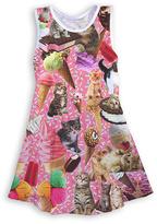 Urban Smalls Pink Kittens and Ice Cream Skater Dress - Toddler & Girls