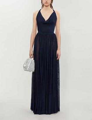 Azzedine Alaia Cowl-neck crepe gown