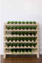 6 Layers of 8 Bottles Wine Rack Finish: Natural