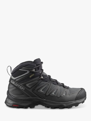 Salomon X Ultra Mid 3 Women's Waterproof Gore-Tex Hiking Boots, Magnet/Black/Monument