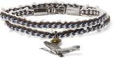 Lanvin - Silver-tone, Bead And Stone Wrap Bracelet