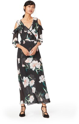 Amazon Brand - TRUTH & FABLE Women's Maxi Floral Dress