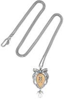 Alexander McQueen Palladium-tone Pearl Necklace - Silver