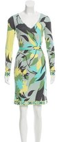 Emilio Pucci Printed Knee-Length Dress w/ Tags