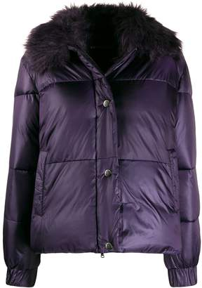 Emporio Armani panelled padded jacket