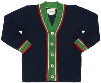 Gucci Wool Cardigan W/ Web Detail