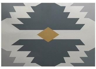 Bronx Jools Geometric Print Gray Indoor/Outdoor Area Rug Ivy Rug Size: Rectangle 2' x 3'