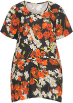 Isolde Roth Plus Size Floral print linen tunic