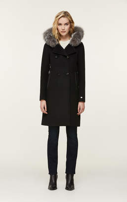 Soia & Kyo PAULINE straight-fit classic wool coat with removable fur